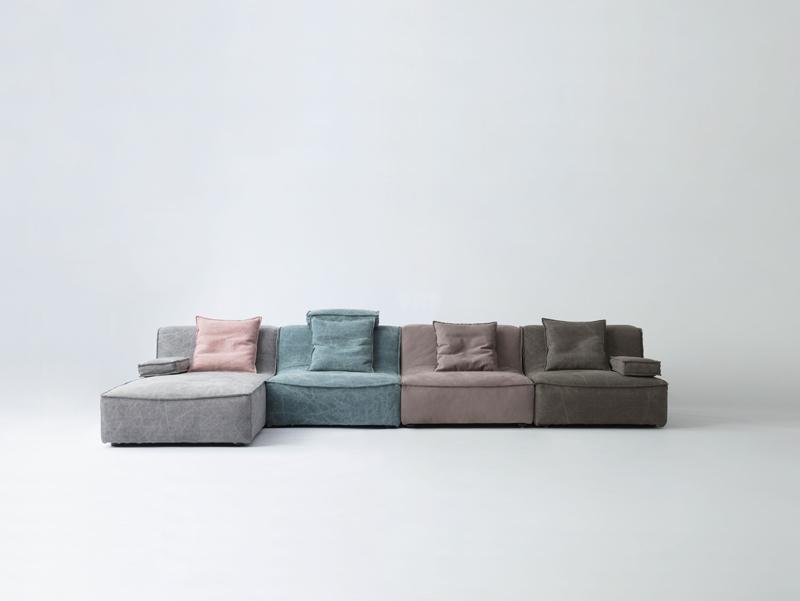 Stella divano 361D 1P+1P+1P+bench+ottman